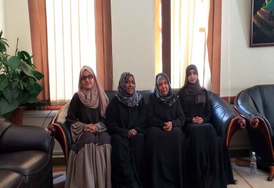 ألتقت الأستاذة فتحية محمد عبدالله رئيسة اتحاد نساء اليمن اليوم الأحد الموافق 21 ابريل 2019 م برئيسة منظمة ايروبيان لحقوق الانسان